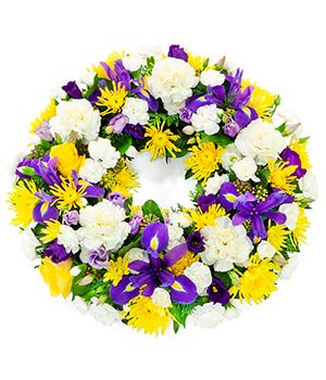 Yellow & blue wreath