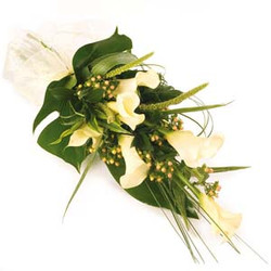 funeral calla lily naturally tied
