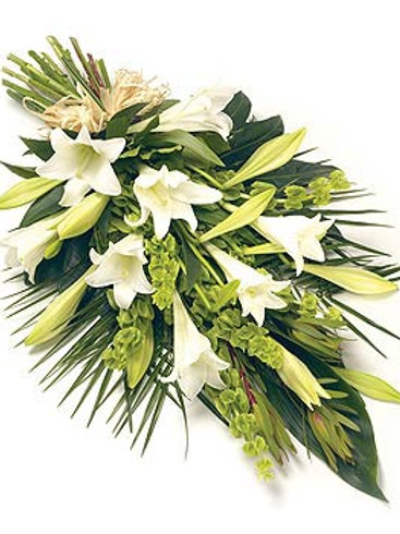 White lily sheaf - naturally tied