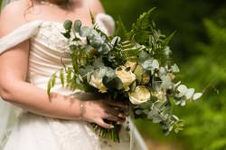 Wedding bouquet woodland theme