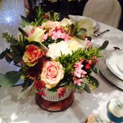 Pretty summer vase arrangement