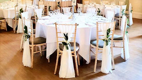 Chiffon Chair drapes wedding