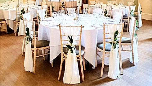 Chiffon Chair drapes wedding
