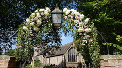 Church gateway arch decor