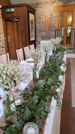 Foliage table scape