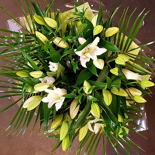 Hand-tied scented lillies