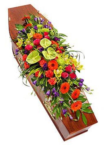 Vibrant Tropical Coffin Spray