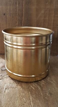 Gold metallic containers