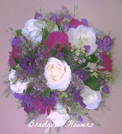 funeral blue purple and white loose