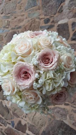 Soft pink wedding bouquet