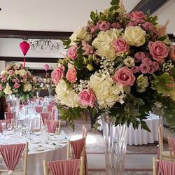 Tall summer floral vases
