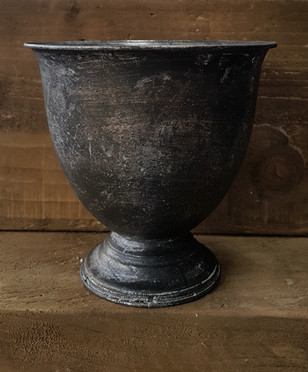 Pewter footed urn