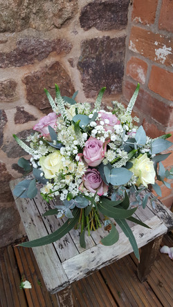 Lilac and ivory wedding