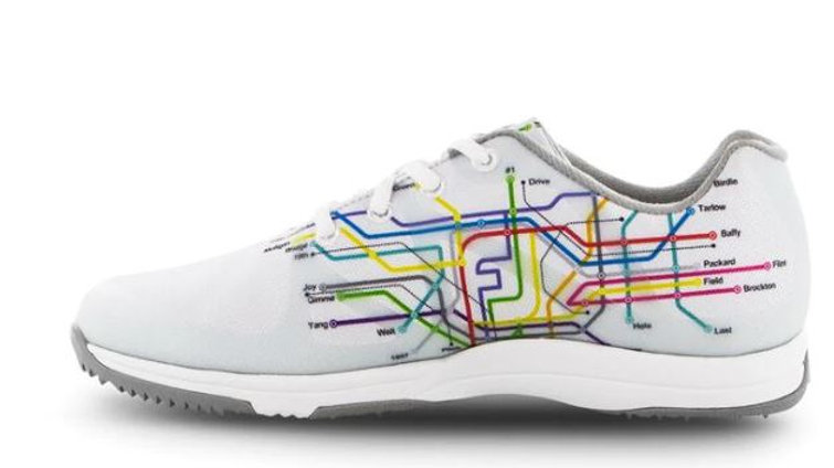 Foot Joy Leisure Women's Shoes - Subway print