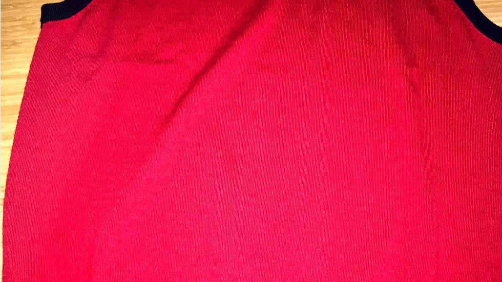 FJ 90647 Wool Vest Navy+Red/Wh L