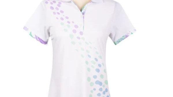 Bermuda Sands Ladies' Tay White Top Under Collar Print