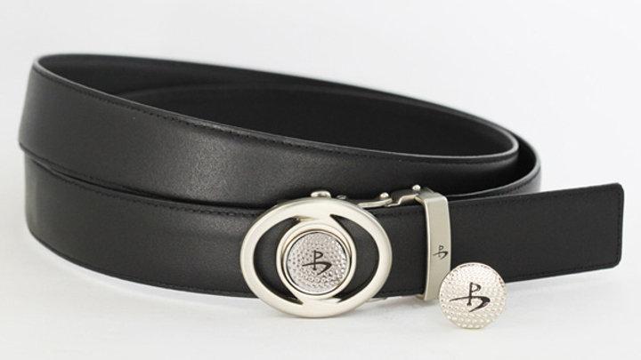 Men's Belt with Design Buckle