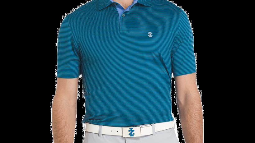Greenie Stripe Jersey Polo