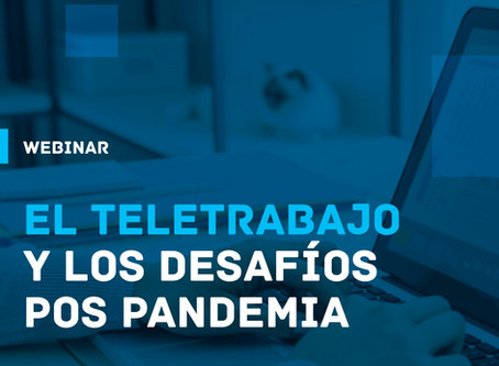 A través de un webinar reflexionamos sobre el teletrabajo y los desafíos pos pandemia