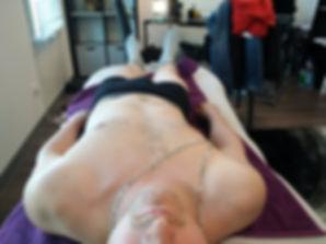 Posture décalée sur jambe droite (AVANT)