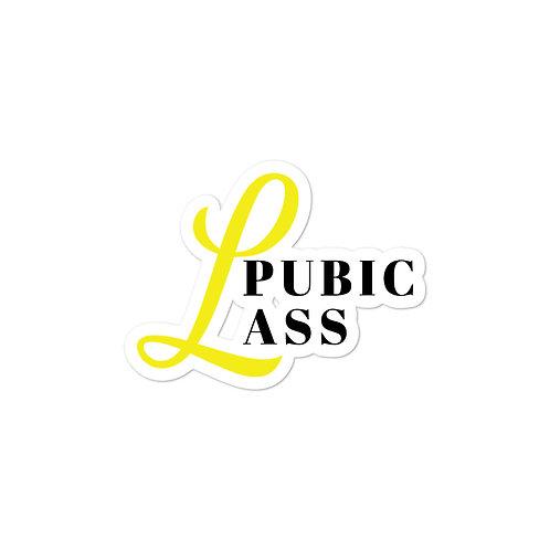 Pubic Ass Sticker