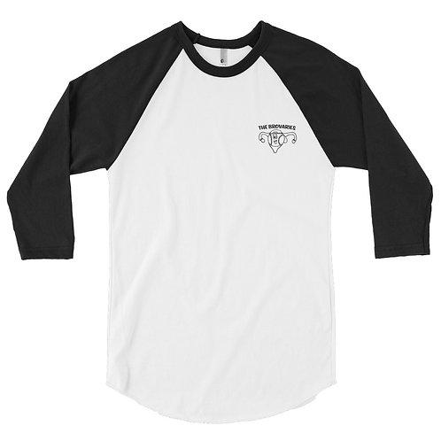 3/4 sleeve raglan shirt - Brovaries Logo
