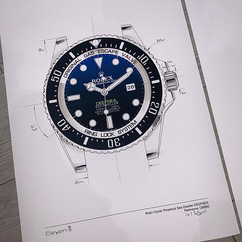 1 of 1 Rolex Deepsea Sea-Dweller 126660 Custom
