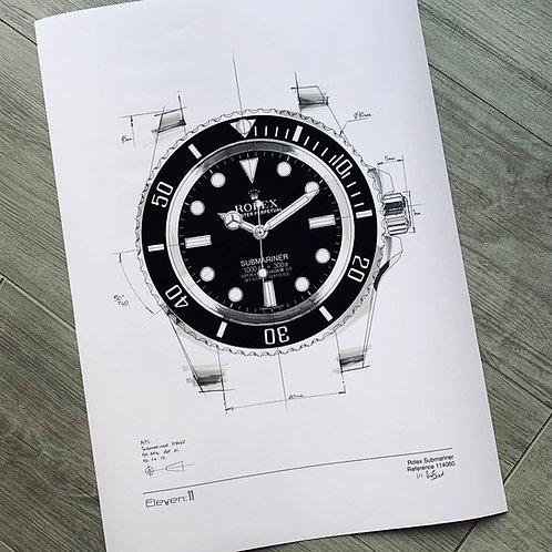 1 of 1 Rolex Submariner Custom