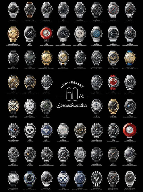 Omega Speedmaster 60th Anniversary Print