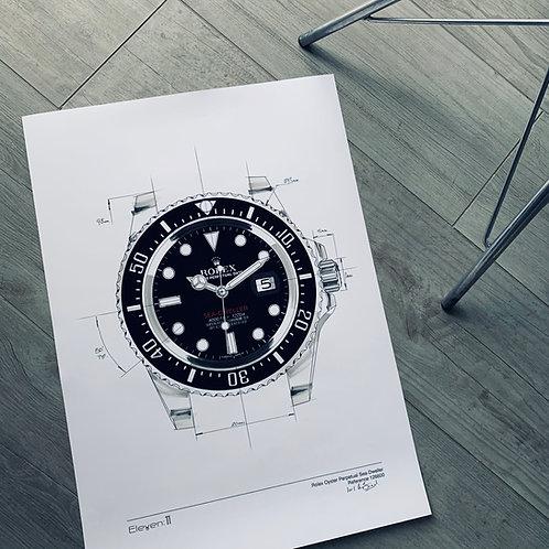 Limited Edition Rolex Sea-Dweller Custom