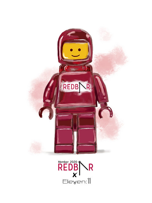 Limited Edition RedBar - Lego Spacemen