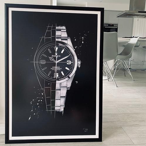 Artist Collection - Framed A1 Rolex Explorer x Eleven:11
