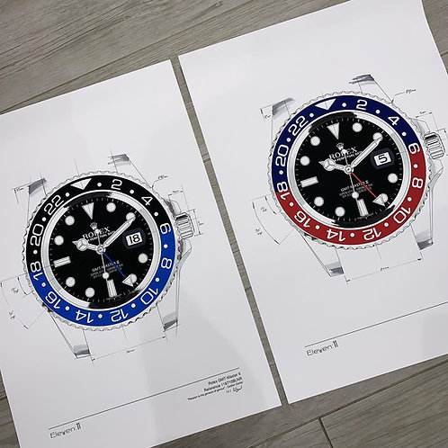 Limited Edition A2 Rolex GMT Master 116710BLNR or 126710BLRO