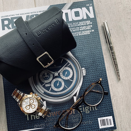 Eleven:11 Black Leather Watch Roll