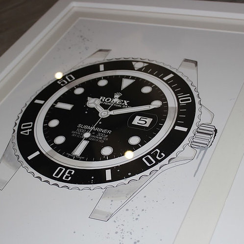 Original Framed Rolex Submariner 116610LN