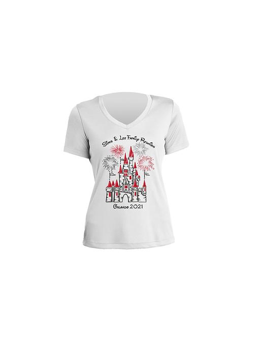 V-shape neck, Short Sleeve T-shirt for Women