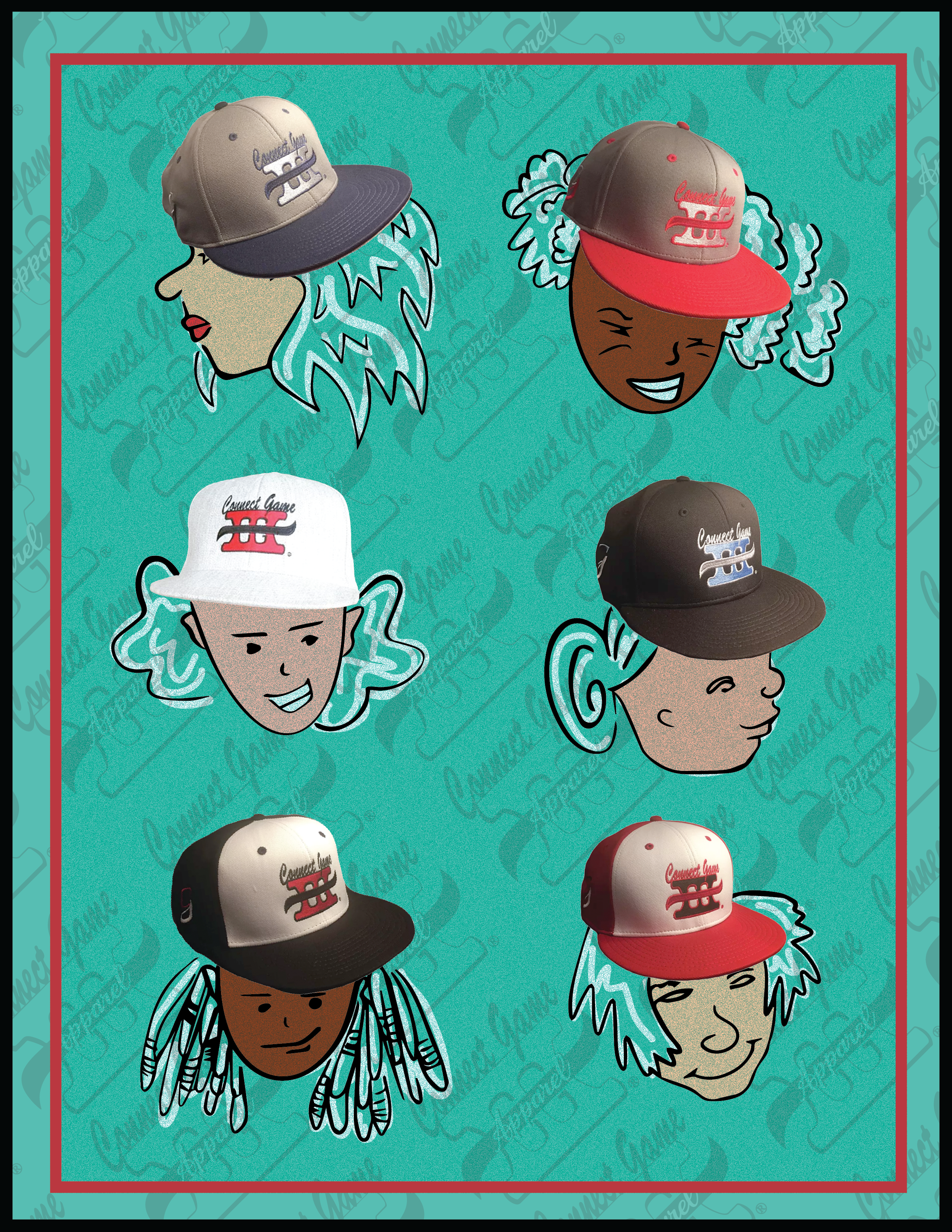 Connect Game Apparel Hats