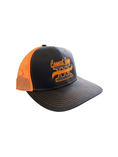 Orange Grey Connect Game Apparel Hat