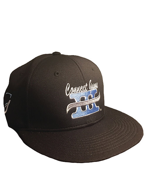 Black cap with Blue Connect Game Apparel Logo