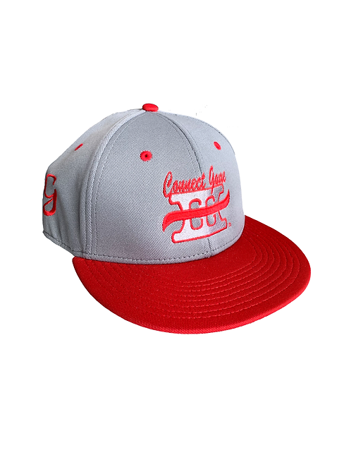 Grey and Red Connect Game Apparel Hats