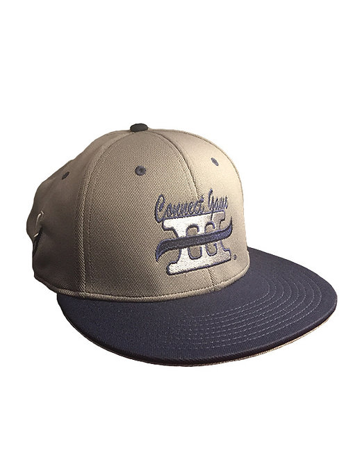 Grey and Blue Hat with Connect Game Apparel Logo