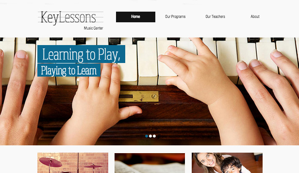 Muziekindustrie website templates – Muziekschool