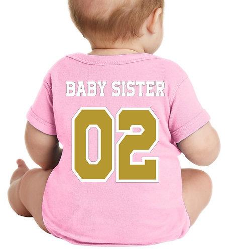 Sister Short sleeve onesie Jersey (Pink)