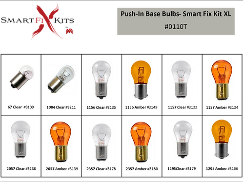 Plug-In Base Bulb Smart Fix Kit-XL 72 pcs #0120T