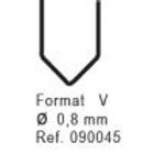Nanoplastic Stapler (100/pk) 0.8mm V #090045