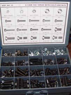 Fine Thread Nuts & Bolts Asst #10JT