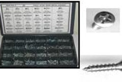 Chrome Finish Screw Asst. Total 1510 pcs #3210T