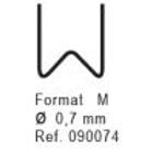 Nanoplastic Stapler (100/pk) 0.7mm M #090074