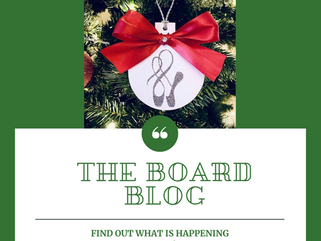The Board Blog #2 - Some Good News & Happy Holidays!