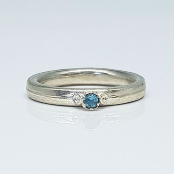 Rebecca Oldfield 3 Point Chaotic Cluster Ring Set With Apatite Gemstone